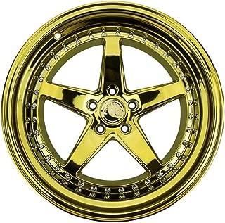 AodHan DS05 Wheel - Gold Vacuum w/Chrome Rivets: 19x11 Wheel Size; 5x114.3 Lug Pattern; 73.1mm Hug Bore; 15mm Off Set.
