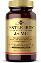 Solgar Gentle Iron, 180 Vegetable Capsules - Ideal for Sensitive Stomachs - Non-Constipating - Red Blood Cell Supplement - Non GMO, Vegan, Gluten Free, Dairy Free, Kosher - 180 Servings