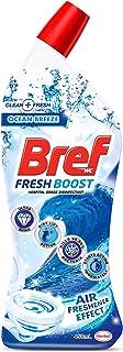 Bref Fresh Boost Ocean Breeze with Air Freshener Effect, Liquid Toilet Cleaner Gel, 450ml