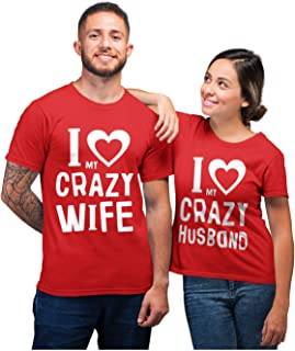 Funny Husband & Wife Couples Gift Anniversary/Newlywed Matching Set T-Shirts