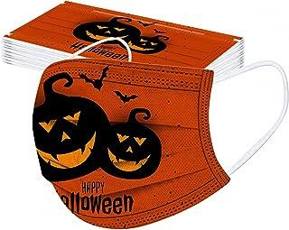 Generic 10 Stück Einweg Kinder Halloween-Druck Mundschutz,Halloween Bedruckt 3 lagig Bandana Mund und Nasenschutz Einmal B...