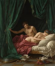 Louis Jean Francois Lagrenee - Mars and Venus, Allegory of Peace, Size 11x14 inch, Gallery Wrapped Canvas Art Print Wall décor
