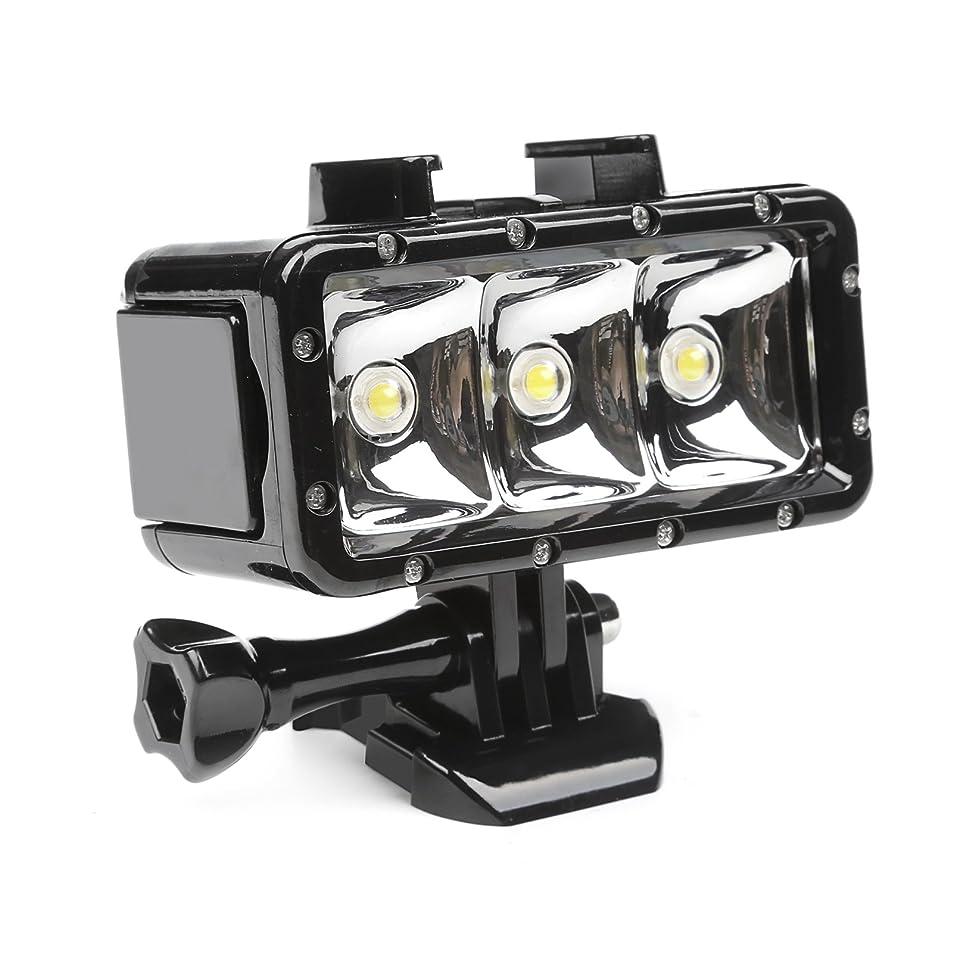 発音する動物リーダーシップSHOOT ダイビングライト 30m防水300LM1200mAH充電バッテリー水中照明LEDライト GoProなどアクションカメラ用