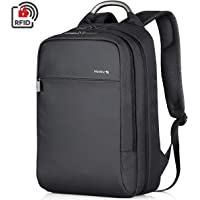 Hanke Expandable Anti-Theft Laptop Backpack for Women & Men (Black)