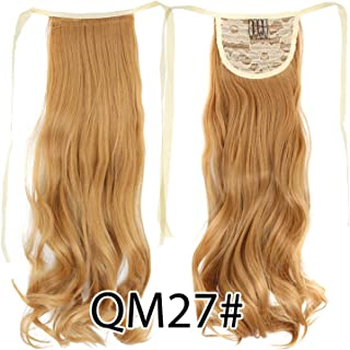 False Tail Pink Hairpiece Ponytail Synthetic Clip In Hair Extension 18