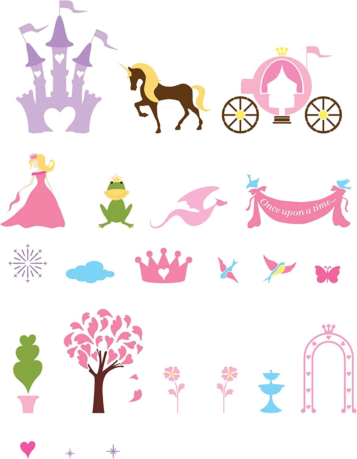 MyWonderfulWalls Princess Super beauty product restock quality Boston Mall top Theme Wall for Stencils Girls