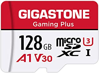Gigastone 128GB Micro SD Card, Gaming Plus, MicroSDXC Memory Card for Nintendo-Switch, 100MB/s, 4K Video Recording, Action...