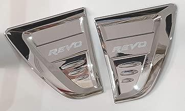 SAISDON- For 2015-2018 Toyota Vigo Hilux D4D Pickup Chrome Revo Chrome Side Lamp Side Vents Indicator Cover [1 Set of 2 Pieces][IQ4]