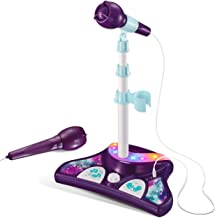 L P Kids Karaoke Machine with 2 Microphones and Adjustable Stand, Music Sing Along with..