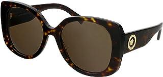 Versace VE 4387 108/73 Havana Plastic Rectangle Sunglasses Brown Lens