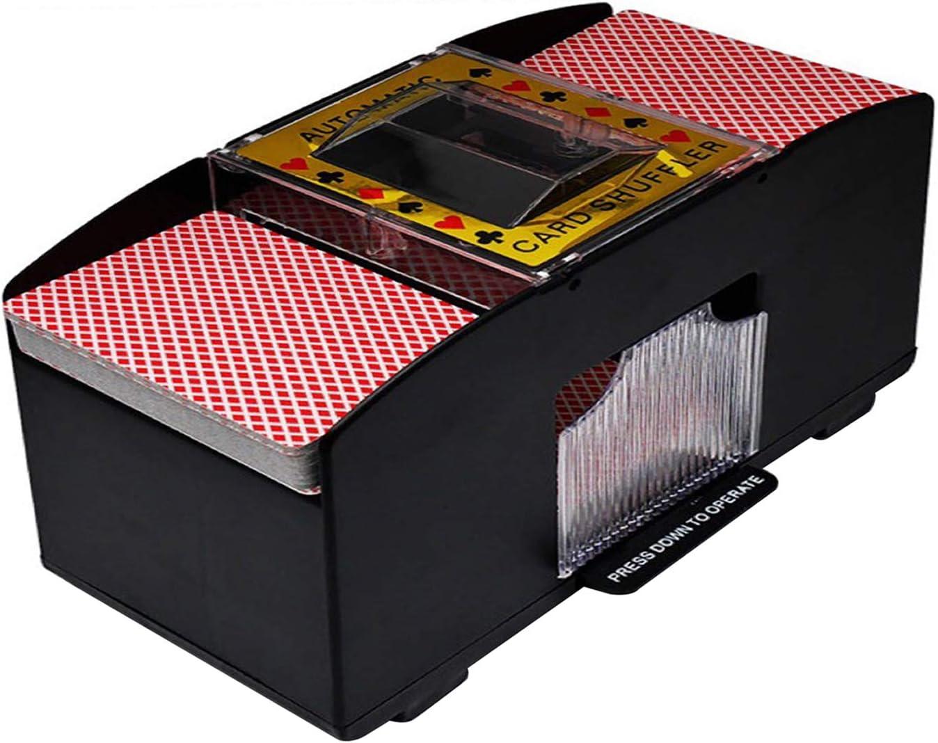 lanzador el/éctrico a pilas para el juego de puentes SHINROAD Juego de cartas de juego juego de cartas de pl/ástico para torneos en casa mezcla autom/ática de p/óquer juego mec/ánico 2 barras