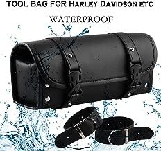 Baomabao Motorcycle Storage Bag, Handlebar Bag Saddlebag Fork Roll Barrel Bag for Touring Leather Bag