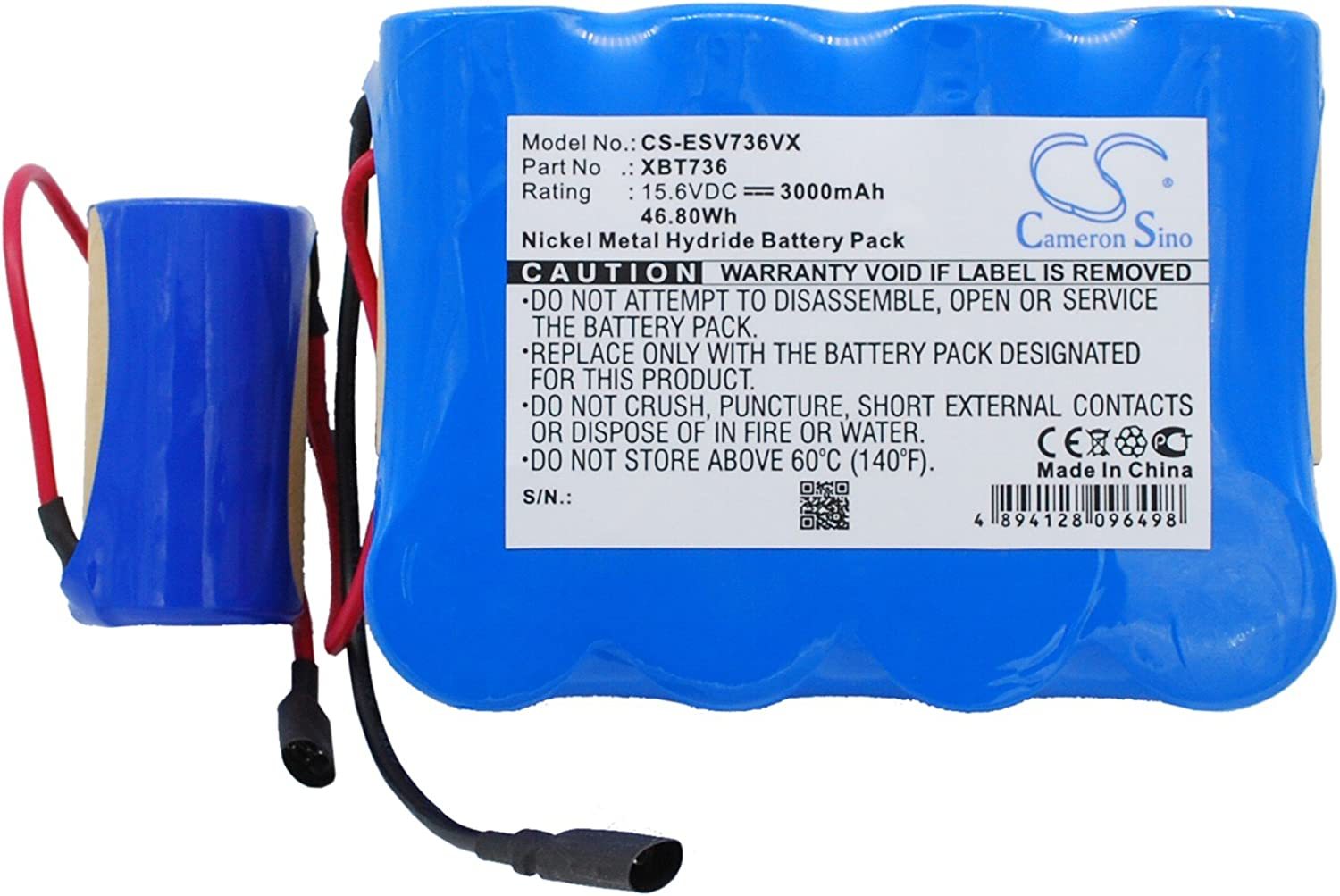 3000mAh 46.80Wh Ni-MH Replacement Philadelphia Mall Battery Max 90% OFF Shark SV7 SV736 for