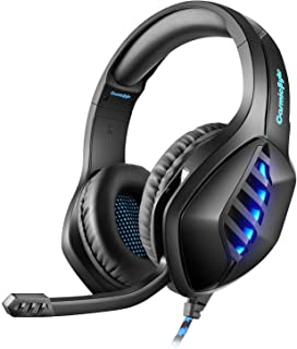 Cosmic Byte GS430 Gaming on-ear wired headphone 7 Color RGB LED with Microphone(Black)