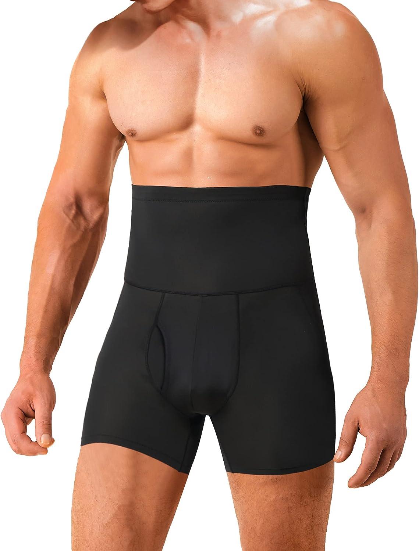 IFKODEI Men Tummy Control Shapewear Shorts High Waist Slimming Body Shaper Girdle Compression Underwear Boxer Brief