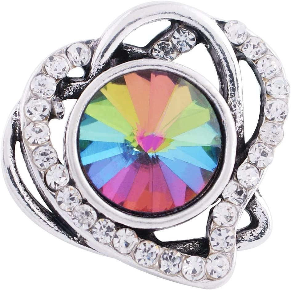 Lovmoment Snap 20MM Love Heart supreme Super Special SALE held Antique with Silver Plated R