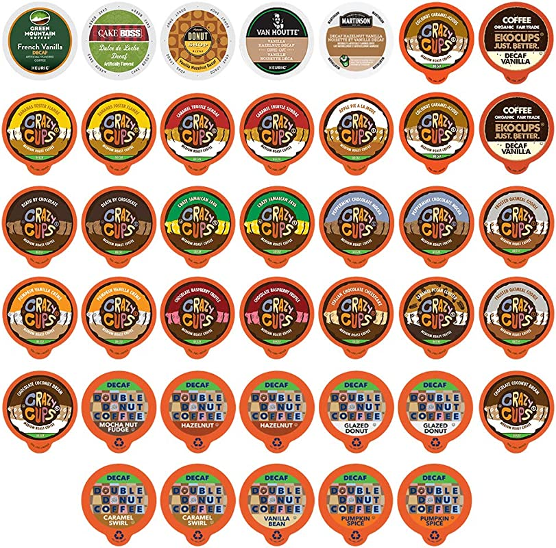 Custom Variety Pack Decaf Flavored Coffee Single Serve Cup For Keurig K Cup 40 Count