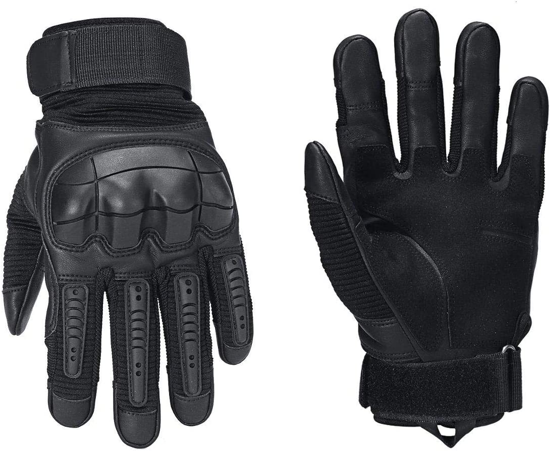 Lupovin-Keep Warm Touch Screen Motorcycle Total Finger Military Tactical Gloves Motorbike Drive Non-Slip (Color : S)