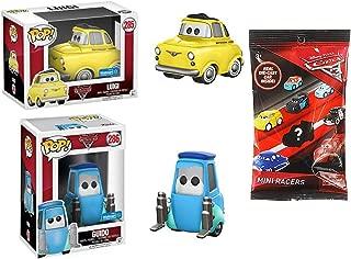 Funko Pop Cars 3 Disney Pixar Luigi & Guido Exclusive Pop! Animated Movie Car Figures Bundled with + Mini Racers Blind Bag Micro Cars 3 Items Cartoon Fun