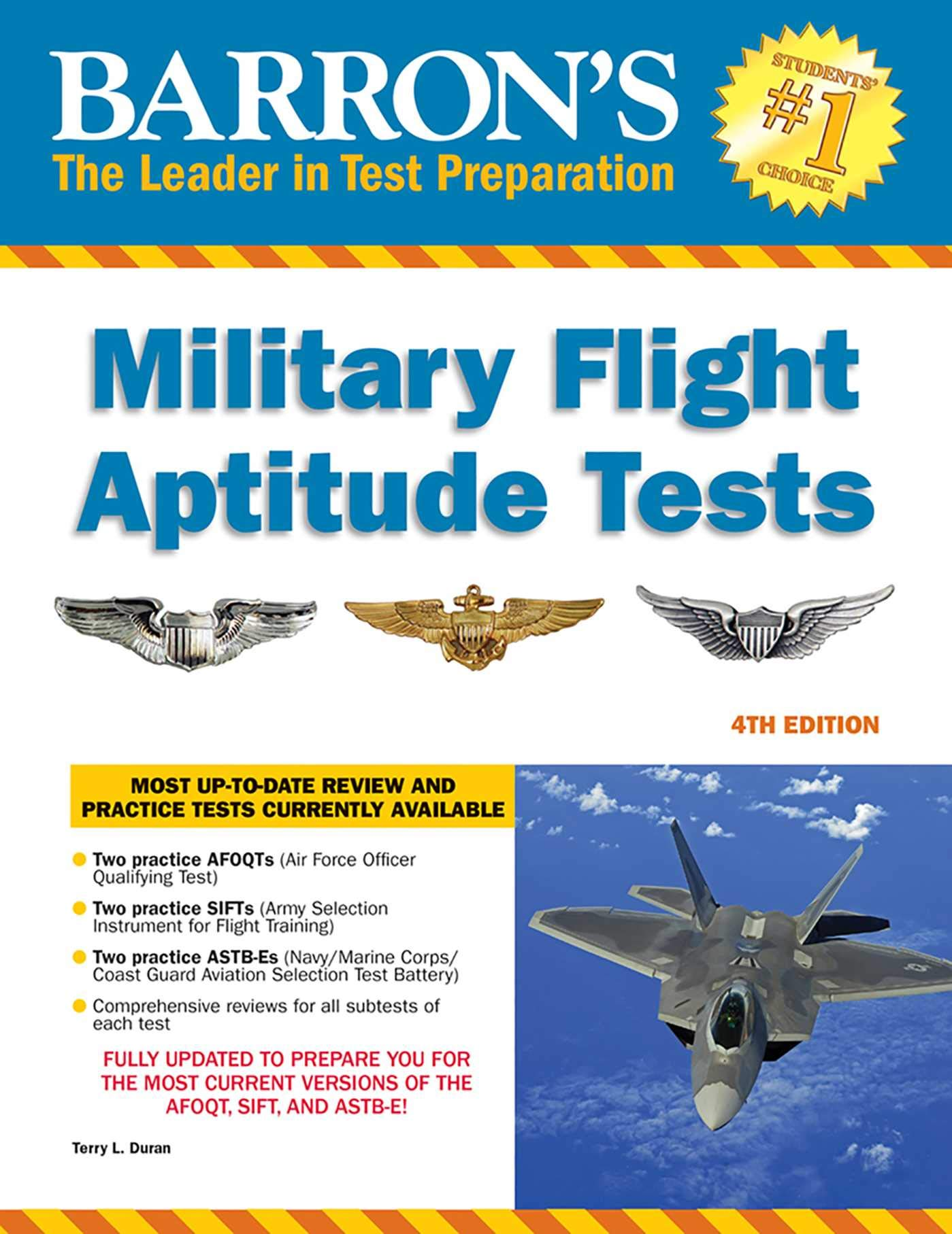 Image OfMilitary Flight Aptitude Tests (Barron's Military Flight Aptitude Tests)