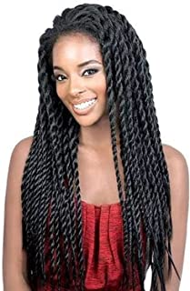 Synthetic Braided Lace Front Wigs African American Twist Braids Wigs for Black Women Natural Color (18 Inch)