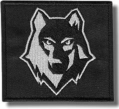 grau Jackets To Go JTG Angry Wolf Head Patch Abzeichen Aufn/äher Klett Erkennungsmarke