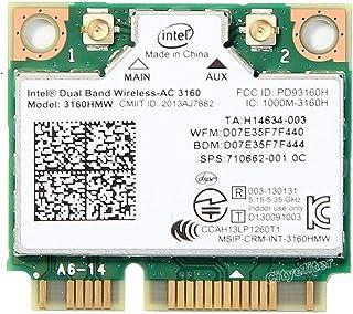 インテル Intel Dual Band Wireless-AC 3160 3160HMW  2.4/5GHz 433Mbps 802.11ac, a/b/g, n  Wi-Fi + Bluetooth 4.0 無線LANカード
