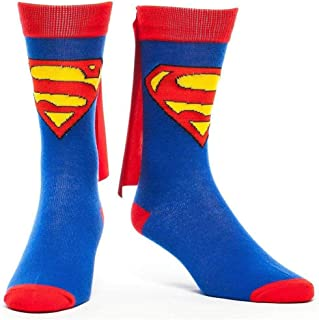 DC Comics Cape Crew Socks (Superman), Blue, One Size