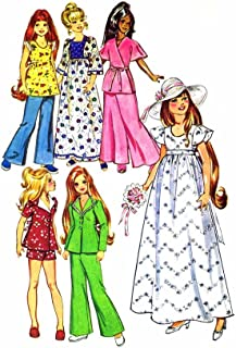 1970s Crissy Brandi Doll Wardrobe Simplicity 6061 Vintage Sewing Pattern Fits 15 1/2 or 17 1/2 Inch Doll