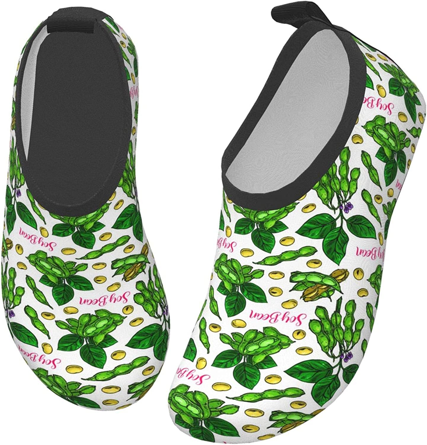 YTPass Cute Soyabeans Hand Drawn Swim-Shoes, Quick-Dry Barefoot Shoes for Surf Outdoor Kids