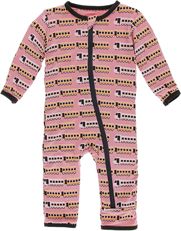 KicKee Pants Print Coverall With Zipper Paleontology Collection