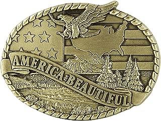 Indiana Metal Craft Men's America The Beautiful Belt Buckle