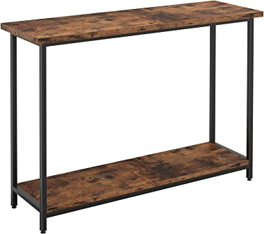 IRONCK Vintage Console Table for Entryway, Entry Table with Shelf, Sofa Side Table for Entryway Living Room, Industrial Home