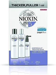 Trial kit Sistema 5 Shampoo 150ml, Condicionador 150ml e Leave-in 50ml, Nioxin, Pequeno