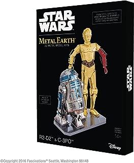 Fascinations Metal Earth Star Wars R2-D2 and C-3PO 3D Metal Model Kit Box Set