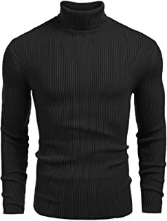 DENIMHOLIC Men's Cotton Turtle Neck Sweater