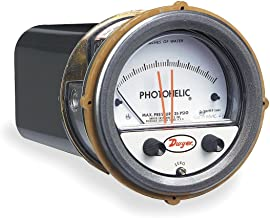 Dwyer® Photohelic® Differential Pressure Gage & Switch, A3000-00, 0-25