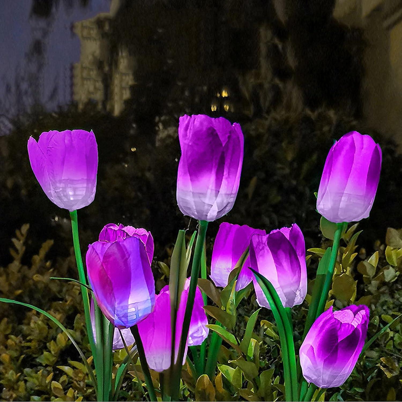NokHom Solar Chicago Mall Tulip Lights Outdoor Flowers famous Garden Waterproof Sol