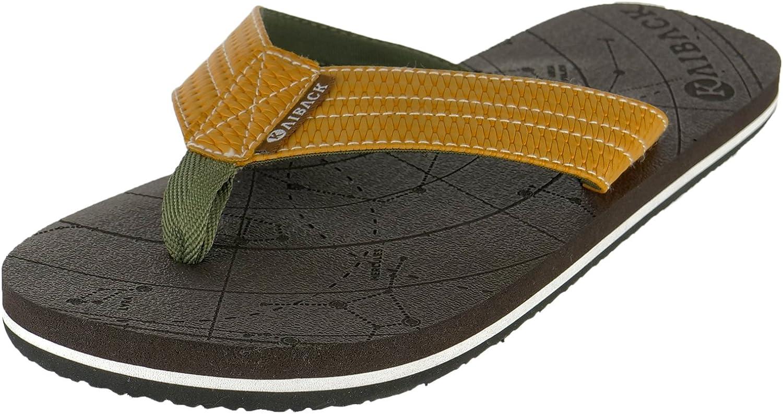 Kaiback Men's Wayfinder Comfort Flip Flop Beach Sandal