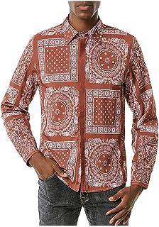 Camiseta Manga Larga Hombre Baratas con Estampado de Anacardo de Tendencia Diaria Informal Camiseta Baratas Tallas Grande ...