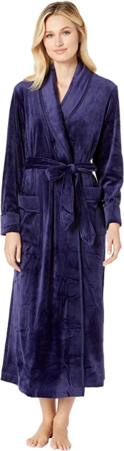 Plush Luxe Velour Long Wrap Robe