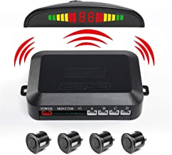 Backup Sensor,LESHP LED Display Car Vehicle Reverse Backup Radar System with 4 Parking Sensors High-volume Warning Buzzer Controller Box for All Cars