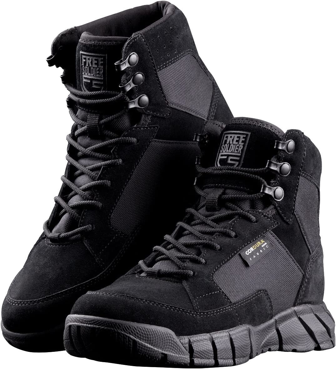 FREE SOLDIER Max 52% OFF Men's 6 Inch Ankle Tactical Boots Wor Military 4 years warranty Duty