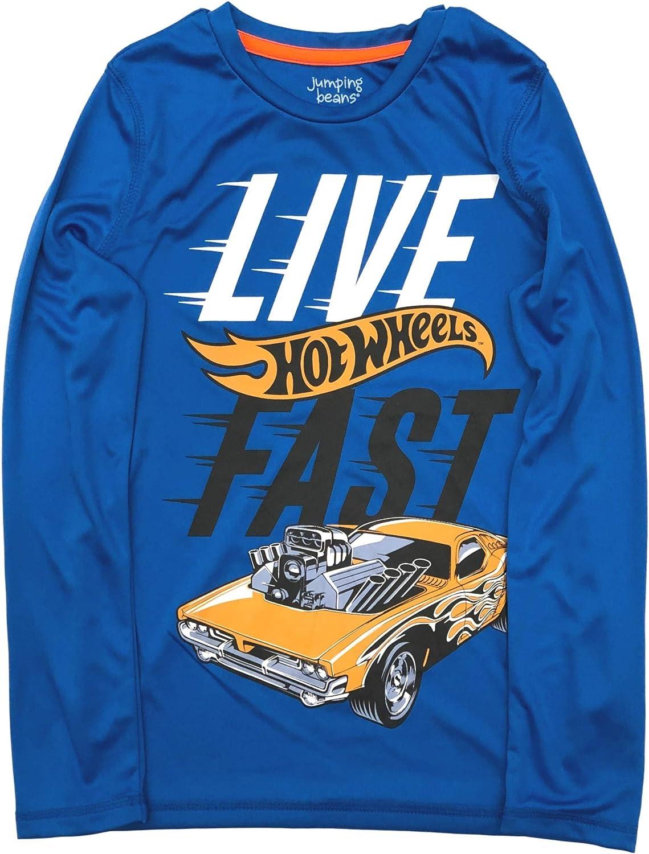 Jumping Beans Active Boys Long Blue Hot Wheels Car T-Shirt Live Fast Tee