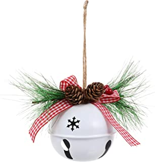 LTDH Christmas Bells with Hook Christmas Tree Hanging Bells Jingle Bells Ornament Outdoor Indoor Christmas Hanging Ornament Christmas Decoration for Wall Fireplace Window 3PCS 30x13