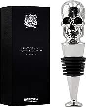 Homestia Skull Wine Stopper Stainless Steel Bottle Stopper Reusable