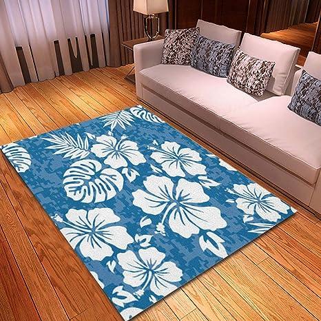 Amazon Com Rouihot Non Slip Area Rug 2 X 3 Flower Aloha Hawaiian Pattern Hibiscus Hawaii Tiki Surf Polynesian Rugs Carpet For Classroom Living Room Bedroom Dining Kindergarten Room Kitchen Dining