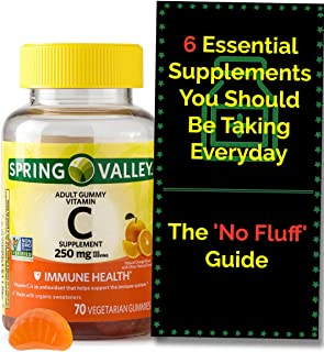 Vitamin C Gummies for Adults. Immune Support. Each VIT C Gummy Contains 250 mg (70 ct) Immunity Booster w/ Antioxidant and...