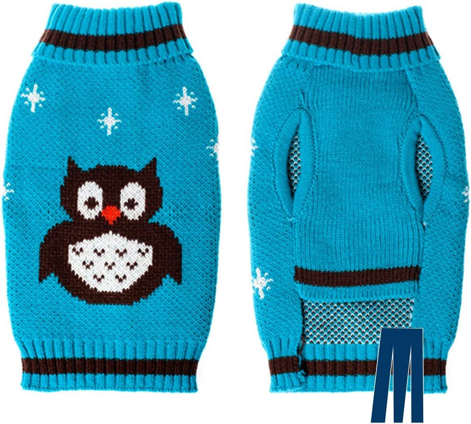 Holiday Festive Sweater for Dogs or Cats Multiple Design Cold Weather Coat Cat Holiday Sweater Mikayoo Dog Christmas Sweater Pet Xmas Sweater
