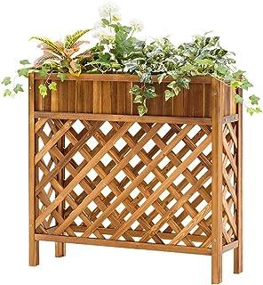 JF-XUAN Flower Stand, Solid Wood Flower Shelf Floor Indoor Multi-storey Balcony Living Room Pot Rack Plant Stand